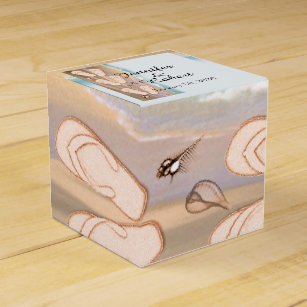 Flip Flops On The Beach Wedding Favor Box