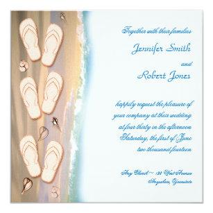Flip Flop Wedding Invitations Zazzle
