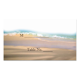 Flip Flops on the Beach Wedding Place Cards Double-Sided Standard Business Cards (Pack Of 100)