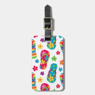 Flip Flops Pattern Luggage Tag