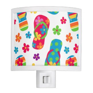 Flip Flops Pattern Night Light
