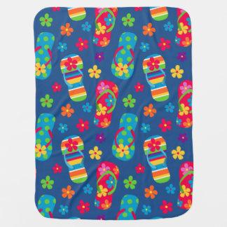 Flip Flops Pattern Receiving Blanket