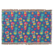 Flip Flops Pattern Throw