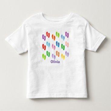 "Beach Themed ""Flip Flops"" Personalized Toddler T-Shirt"