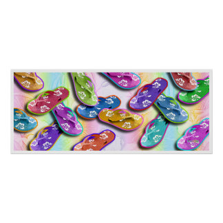 Flip Flops Pop Art Posters, Prints