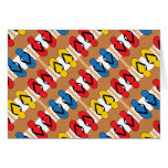 Flip Flops Primary Colors Stripes Card