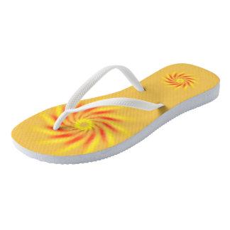 Flip Flops - Red and Yellow Pinwheel