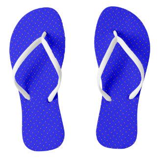 Flip Flops Royal Blue with Orange Dots