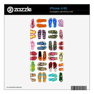 Flip Flops Skins For The iPhone 4S