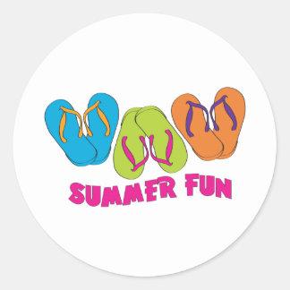 Flip Flops Summer Fun Classic Round Sticker