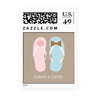 Flip Flops Summer Wedding Postage Stamps