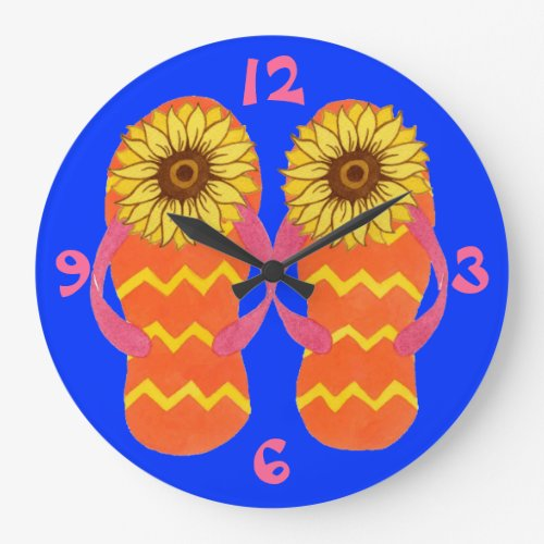 Flip Flops & Sunflowers Summer Clock