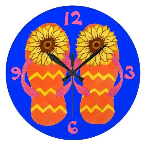 Flip Flops & Sunflowers Summer Clock