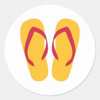 Flip Flops - Thongs Classic Round Sticker