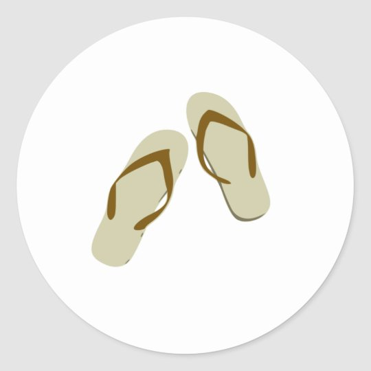 Flip Flops / Thongs Classic Round Sticker