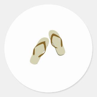 Flip Flops / Thongs Round Stickers
