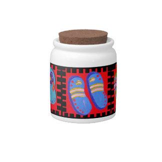 Flip Flops Times Three Candy Jar