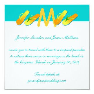 Flip Flops Tropical Wedding Invitations