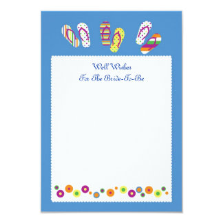 Flip Flops Well Wish Bridal Shower Card