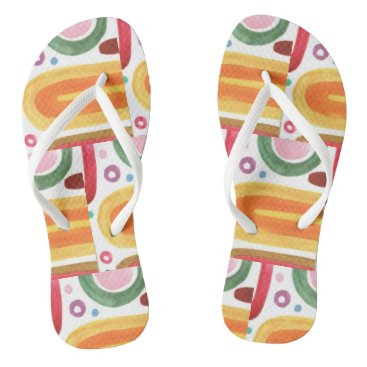 Beach Themed Flip flops with abstract design