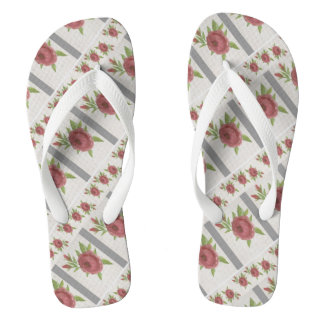 Flip Flops With Roses
