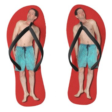 Beach Themed Flip Flops with tiny guy