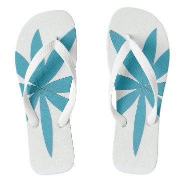 Beach Themed Flip-flops with turquoise star design. flip flops