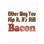 Flip it Bacon Postcard