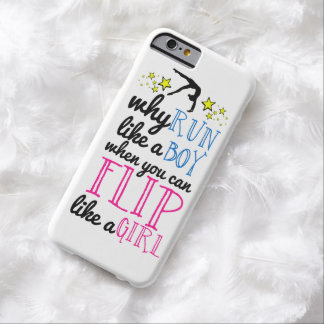 Flip Like a Girl Empowerment Gymnastics Barely There iPhone 6 Case