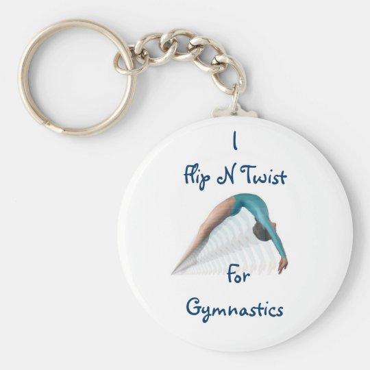 Flip N Twist,  For Gymnastics Keychain