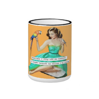 Flip Off Husband Coffee Mug