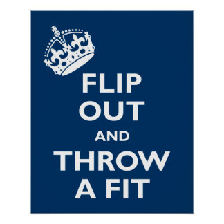 Flip Out & Throw a Fit Poster
