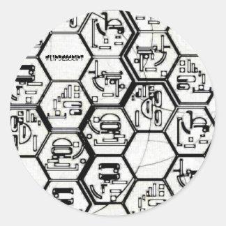 Flipdescript Round Stickers
