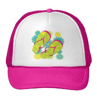 Flipflops_greenyellowpink Mesh Hats