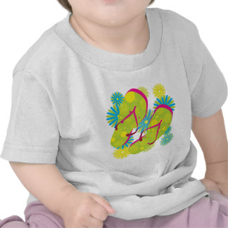 Flipflops_greenyellowpink Shirts