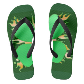 Flipflops Irish Green with Shamrock