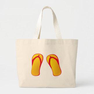 flipflops large tote bag