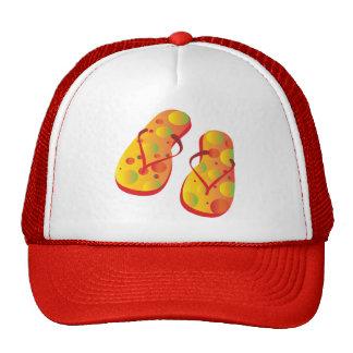 Flipflops-Red-yellow Trucker Hats