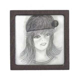 Flipped Hair Flapper Jewelry Box