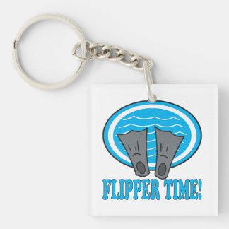 Flipper Time Keychain