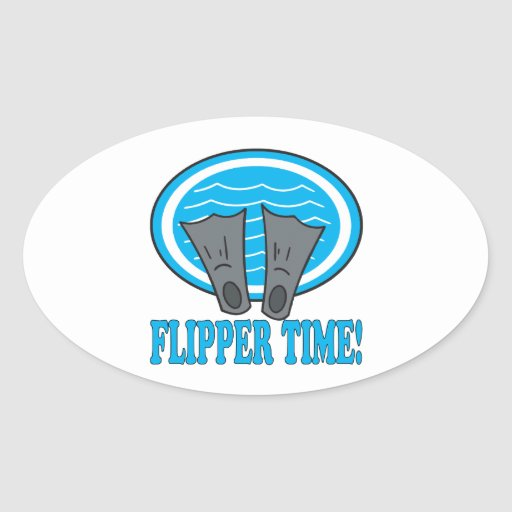 Flipper Time Oval Stickers