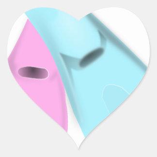 flippers dive swim pink blue sports men women heart sticker