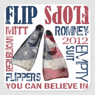 Flippers for Romney Sticker