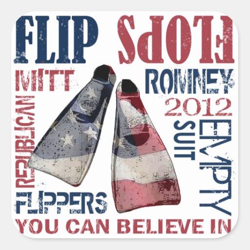 Flippers for Romney Sticker