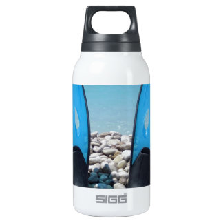 Flippers, Pebbles, and Ocean 10 Oz Insulated SIGG Thermos Water Bottle