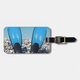 Flippers, Pebbles, and Ocean Tags For Luggage
