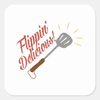 Flippin Delicious Square Sticker