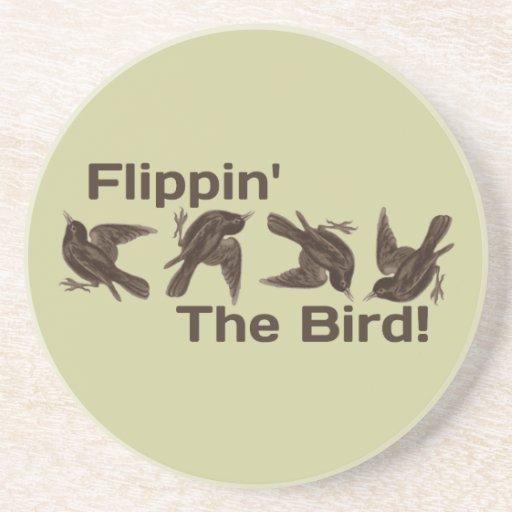 Flippin el pájaro posavasos diseño