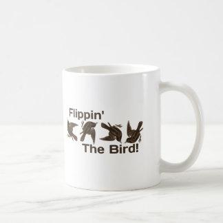 Flippin el pájaro taza básica blanca