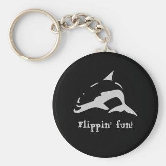 Flippin' fun! basic round button keychain